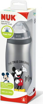 NUK Junior Cup - Push/Pull 450ml SILVER MICKEY - Babyonline