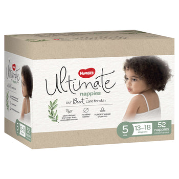 Huggies Ultimate Nappies Jumbo - Size 5 Walker Unisex (52 per box)