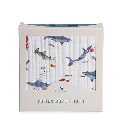 Little Unicorn Muslin Quilt - Shark