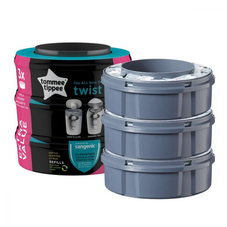 Tommee Tippee Sangenic TWIST & CLICK Nappy Disposal Refills