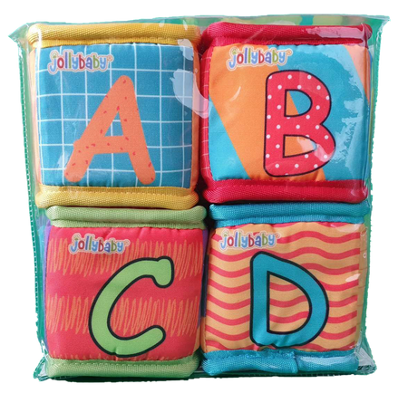 Soft Blocks Touch, Sight & Sound - Pack of 4