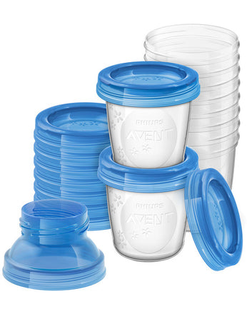 Avent Milk Storage Cups 180ml - Pack of 10 - Babyonline