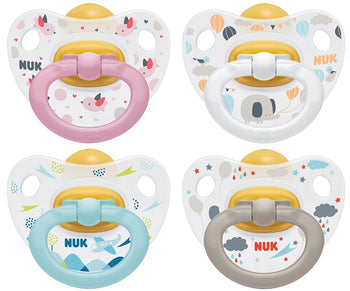 NUK *LATEX* Happy Kids Pacifiers - Pack of 2