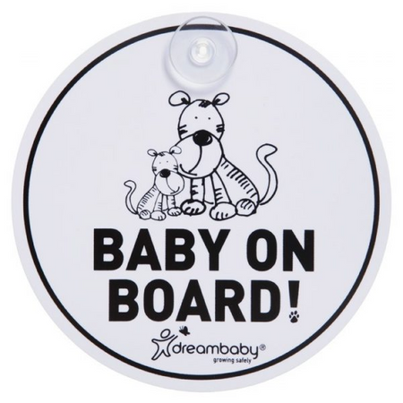 Dreambaby Tiger Baby on Board Sign