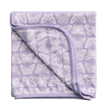 Woolbabe Merino/Organic Cotton swaddle/blanket HEBE MONARCH