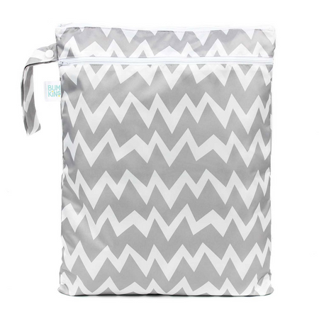Bumkins Wet Bag - Grey Chevron