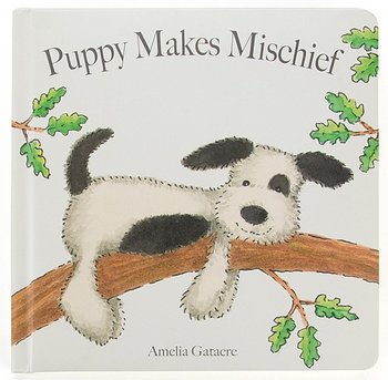 Jellycat Puppy Makes Mischief- Board Book