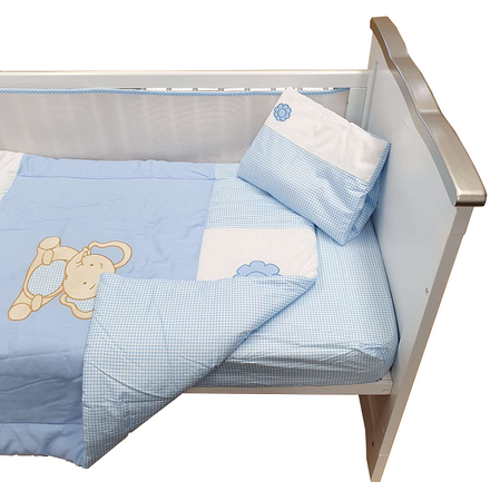 Sleep Tight Cot Bedding Set BLUE ELEPHANT
