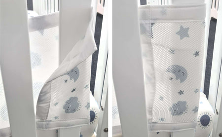 Sleep Tight Breathable Mesh Cot Bumper