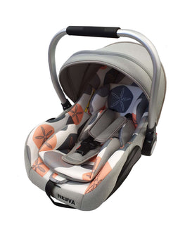 Neeva Capsule with Aluminum Handle - LIGHT GREY & ORANGE - Babyonline