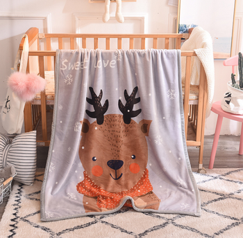 Sleep Tight Mink Feel Blanket DEER