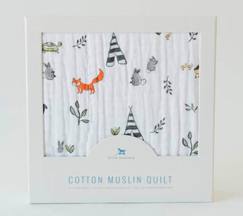 Little Unicorn Muslin Quilt FOREST FRIENDS
