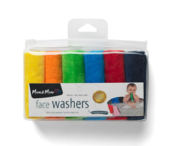 Mum2Mum Face Washers (Pack of 6) BRIGHTS