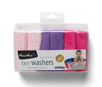 Mum2Mum Face Washers (Pack of 6) CANDY