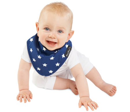 Mum2Mum Wonder Bib Fashion Bandana NAVY STARS