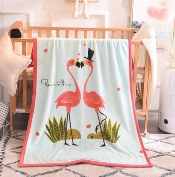 Sleep Tight Mink Feel Blanket FLAMINGO