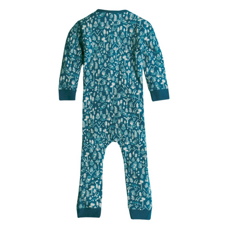 Woolbabe Merino/Organic Cotton PJ Suit - LAKE WILDERNESS
