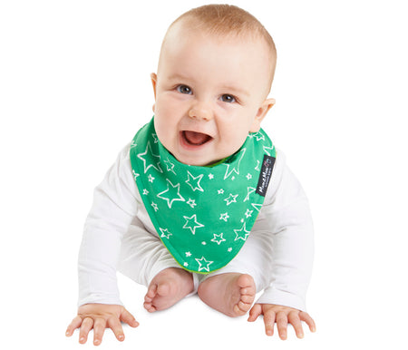 Mum2Mum Wonder Bib Fashion Bandana GREEN STARS
