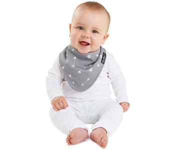 Mum2Mum Wonder Bib Fashion Bandana GREY ARROWS