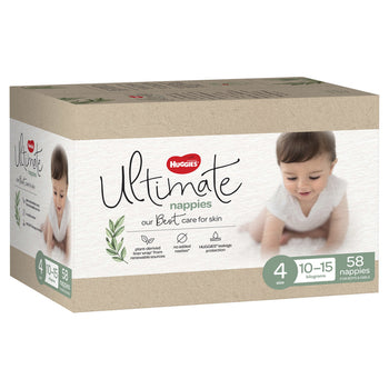 Huggies Ultimate Nappies Jumbo - Size 4 Toddler Unisex (58 per box)