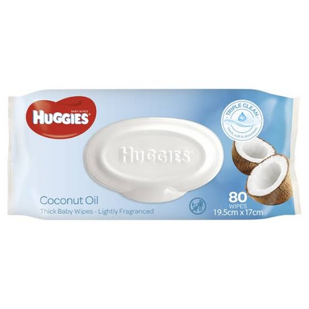 Huggies Baby Wipes Coconut Oil (80 Wipes) - Babyonline