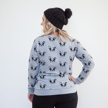 Milkbar Harvey Frenchie Sweater | Grey