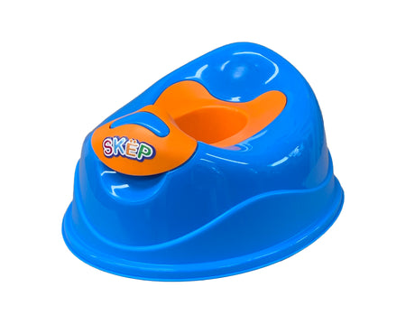 SKEP Deluxe Training Potty - Blue with Orange Potty