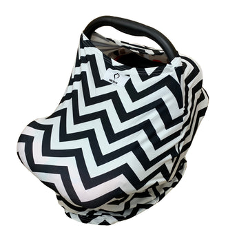 Neeva 4 in 1 Infant Capsules Cover -(White - Black Zig Zag)