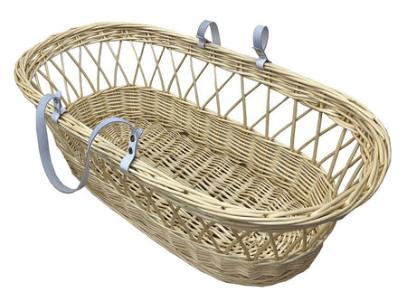 Natural Wicker Flat Moses BASKET ONLY