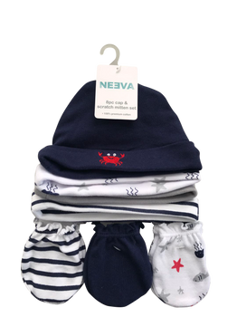 Neeva 8 Piece Hat & Mitten Set CRAB