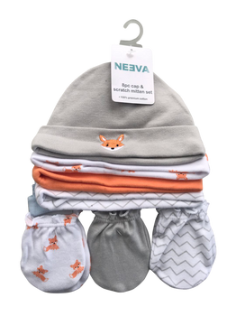Neeva 8 Piece Hat & Mitten Set FOX