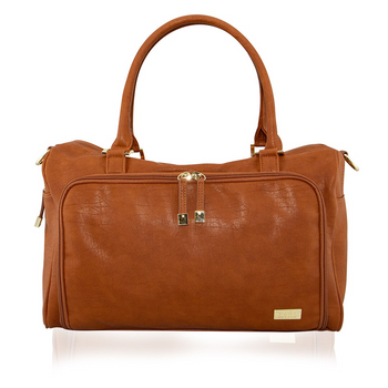 Isoki Double Zip Satchel AMBER TAN