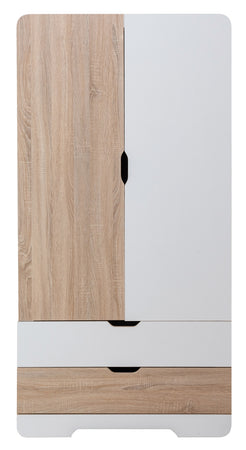Kapai JUPITER Kids Wooden Wardrobe + FREE Kids Wooden Wall Mounted Hooks