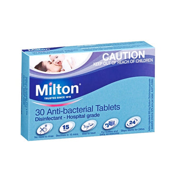 Milton Antibacterial Tablets - Pack of 30 - Babyonline