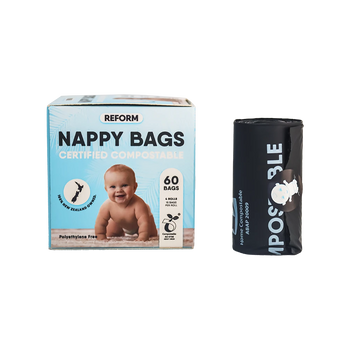 Reform Certified Compostable Nappy Bags - 60 Bags