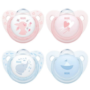 NUK Silicone Pacifiers ROSE & BLUE - Pack of 2 - Babyonline