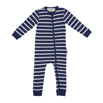 Woolbabe Merino/Organic Cotton PJ Suit - MIDNIGHT