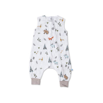 Little Unicorn Cotton Muslin Sleep Romper - Forest Friends