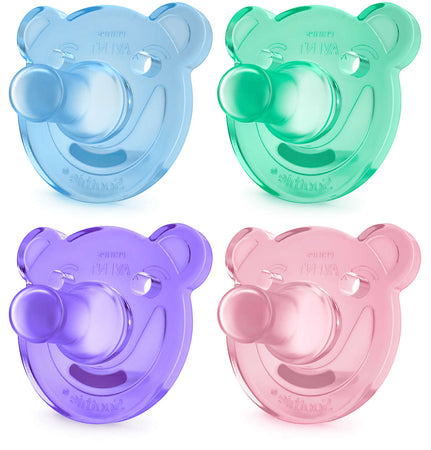 Avent Bear Soothie 0-3m - Pack of 2 - Babyonline