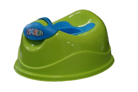 SKEP Deluxe Training Potty - Green with Blue Potty - Babyonline