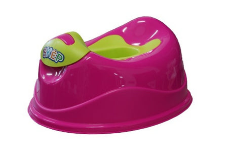 SKEP Deluxe Training Potty - Pink with Green Potty