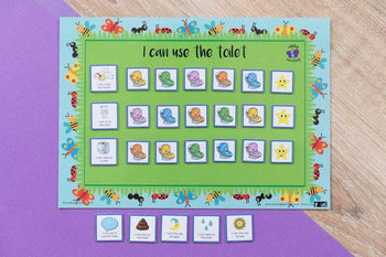 Lulubug Learning Magnetic Toilet Training Chart - Bugs & Butterflies