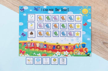 Lulubug Learning Magnetic Toilet Training Chart - Train