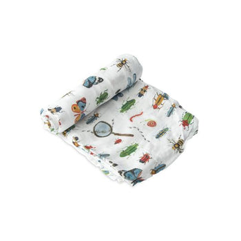 Little Unicorn Single Deluxe Muslin Swaddle - Bugs