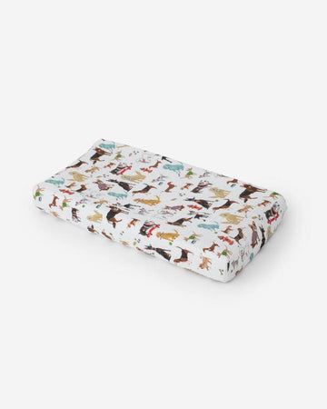 Little Unicorn Muslin Changing Pad Cover - Woof