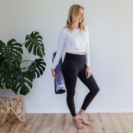 Milkbar Active Leggings | Extra High Waist 7/8 | Black