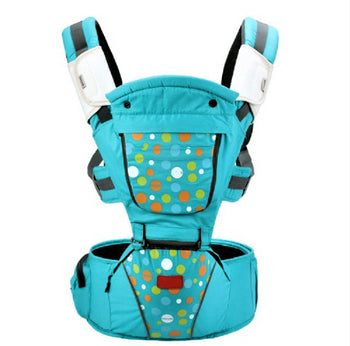 Luxury Multi-Functional Baby Hip Seat Carrier -  Blue with circles