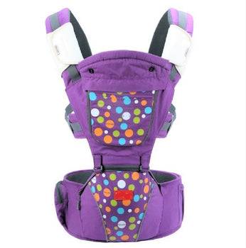 Luxury Multi-Functional Baby Hip Seat Carrier -  Purple with circles