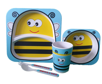 Bamboo Dinner Set - BEE - Babyonline