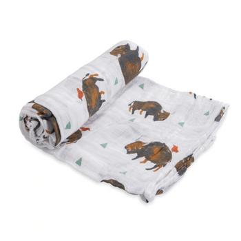 Little Unicorn Single Muslin Swaddle - Bison Tours